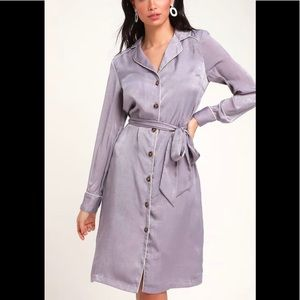 NEW Satin Shirt Dress